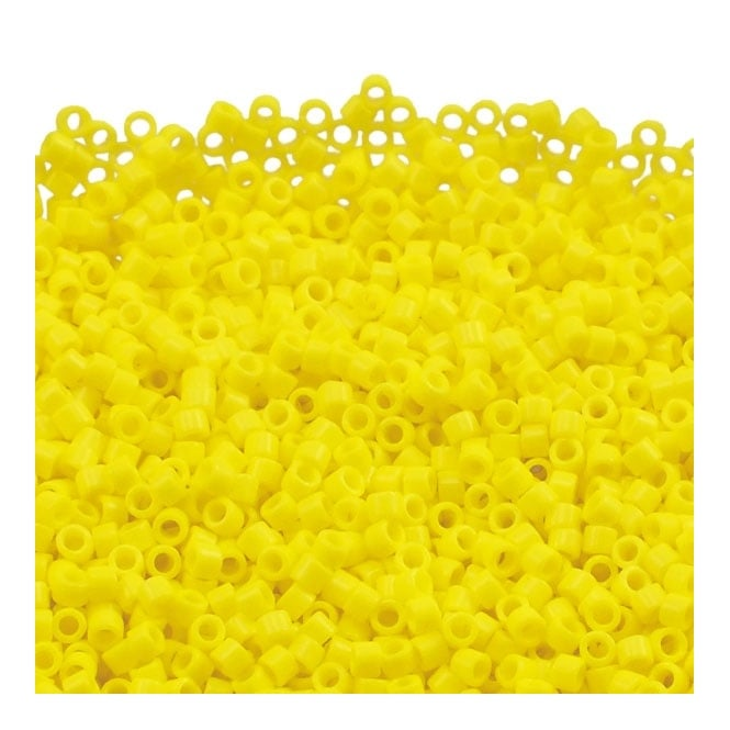 11/0 Delica Seed Bead - Opaque Yellow (DB721) - 5g