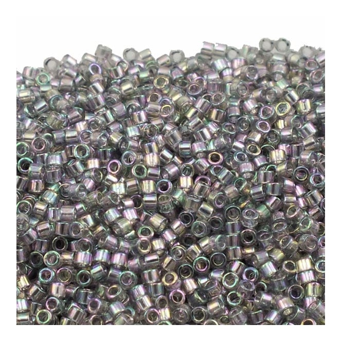 11/0 Delica Seed Bead - Transparent Grey Iris (DB107) - 5g