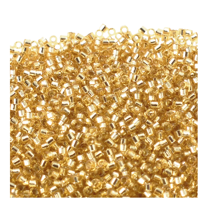 11/0 Delica Seed Beads - Silver Lined Gold (DB042) - 5g