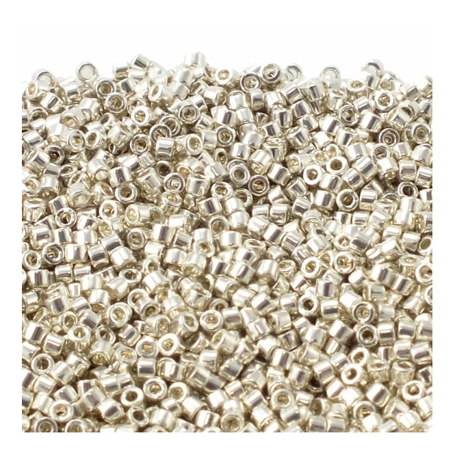 11/0 Delica Seed Beads - Galvanized Silver (DB035) - 5g