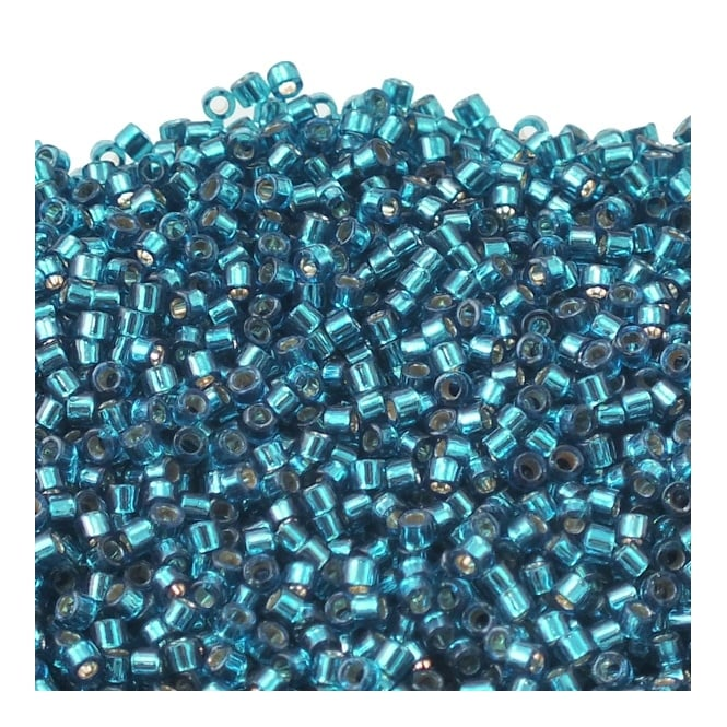 Miyuki 11/0 Delica Seed Beads - Silver Lined Blue Zircon (DB608) - 5g