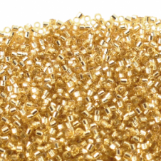 Miyuki 11/0 Delica Seed Beads - Silver Lined Gold (DB042) - 5g