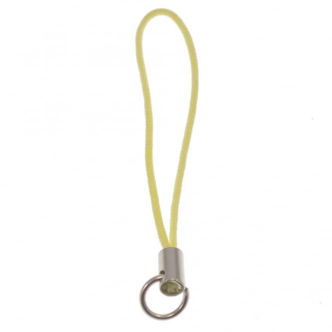 Mobile Phone Charm Straps - Yellow - 10pk