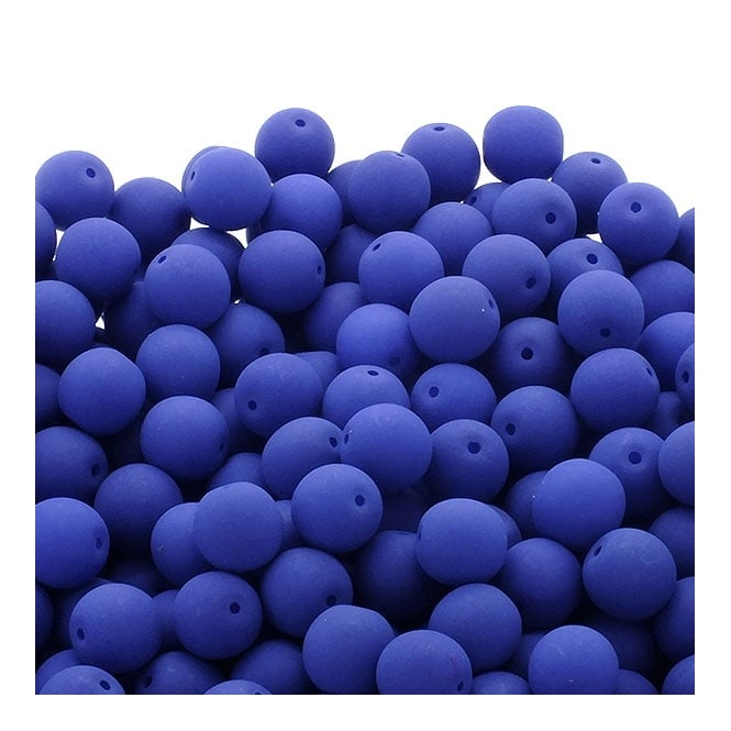 Neon Beads Round Czech Glass 4mm - Dark Blue - 50pk
