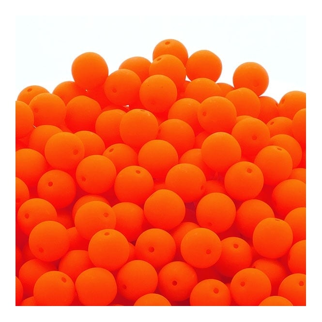 Neon Beads Round Czech Glass 4mm - Orange - 50pk