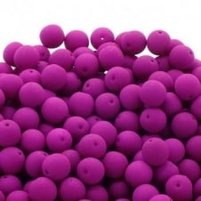 Neon Beads Round Czech Glass 4mm - Orchid - 50pk