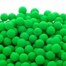 Neon Beads Round Czech Glass 6mm - Green - 25pk