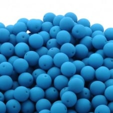 Neon Beads Round Czech Glass 6mm - Light Blue - 25pk