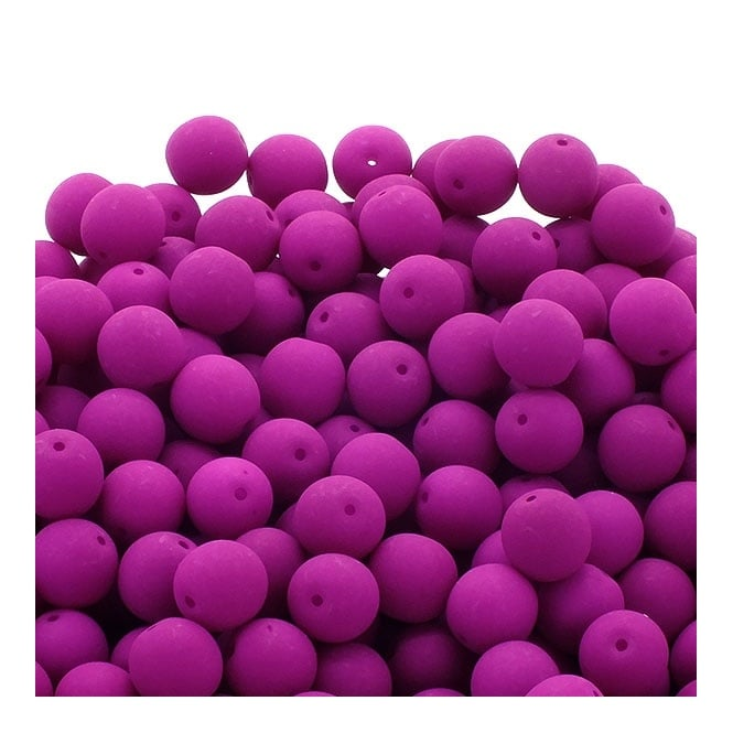 Neon Beads Round Czech Glass 6mm - Orchid - 25pk