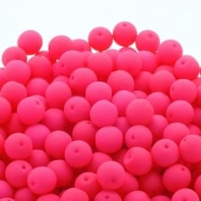 Neon Beads Round Czech Glass 6mm - Pink - 25pk