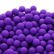 Neon Beads Round Czech Glass 6mm - Purple - 25pk