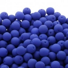 Neon Beads Round Czech Glass 8mm - Dark Blue - 20pk