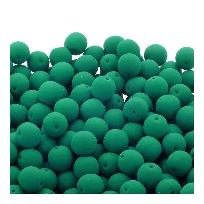 Neon Beads Round Czech Glass 8mm - Emerald - 20pk