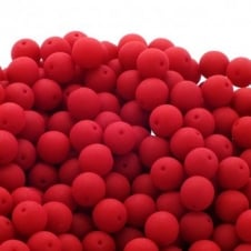 Neon Beads Round Czech Glass 8mm - Red - 20pk