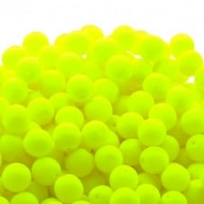 Neon Beads Round Czech Glass 8mm - Yellow - 20pk