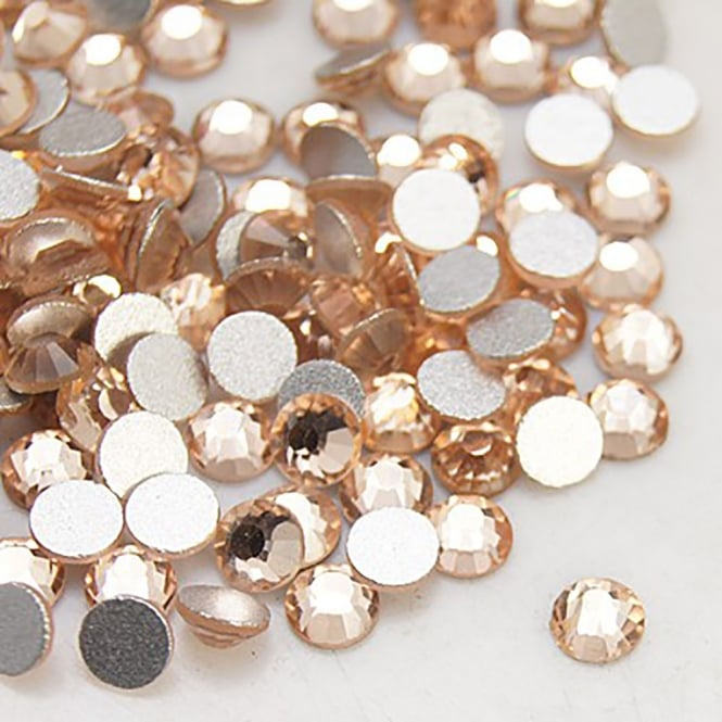 Non-Hot Fix 3mm (SS12) Flatback Rhinestones - Light Peach - 100pcs