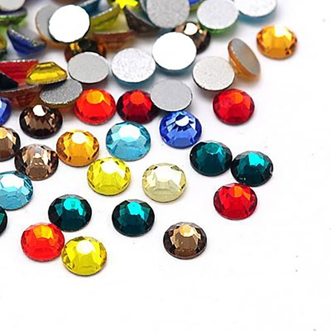 Non-Hot Fix 3mm (SS12) Flatback Rhinestones - Mix Colours - 100pcs
