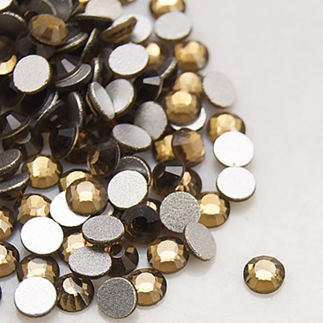 Non-Hot Fix 3mm (SS12) Flatback Rhinestones - Smoked Topaz - 100pcs