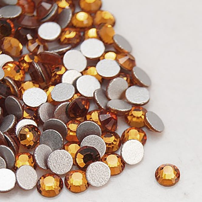 Non-Hot Fix 3mm (SS12) Flatback Rhinestones - Topaz - 100pcs