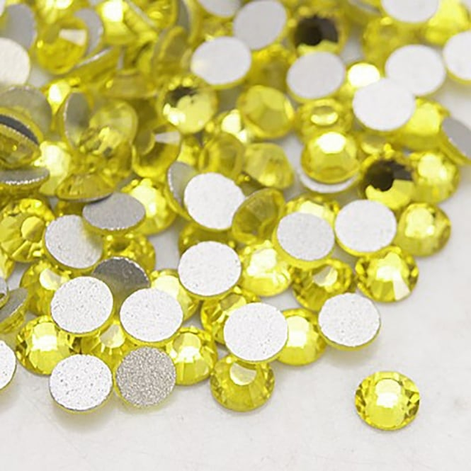 Non-Hot Fix 4mm (SS16) Flatback Rhinestones - Citrine - 100pcs