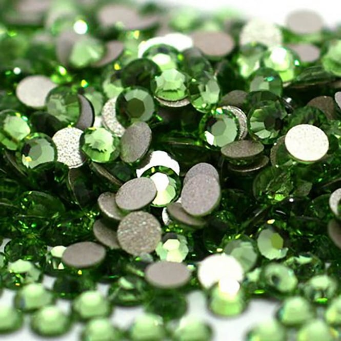 Non-Hot Fix 4mm (SS16) Flatback Rhinestones - Peridot - 100pcs