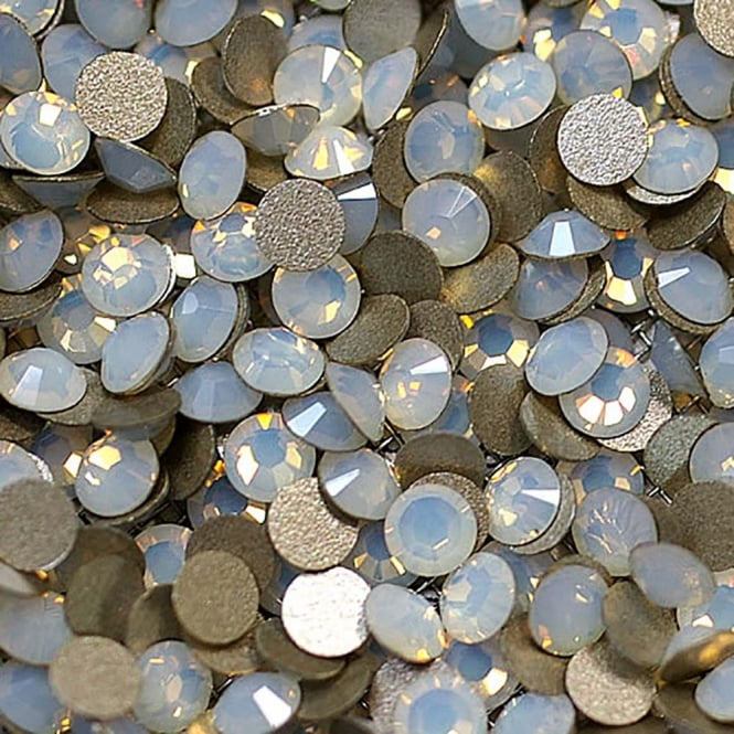 Non-Hot Fix 4mm (SS16) Flatback Rhinestones - White Opalite - 100pcs