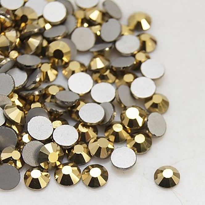 Non-Hot Fix 5mm (SS20) Flatback Rhinestones - Aurum (Gold) - 100pcs