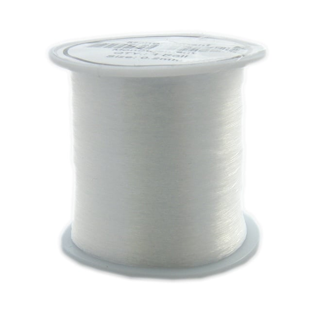 Nylon/Monofilament Beading Wire Thread Cord 0.3mm - Clear - 130 Metre Roll