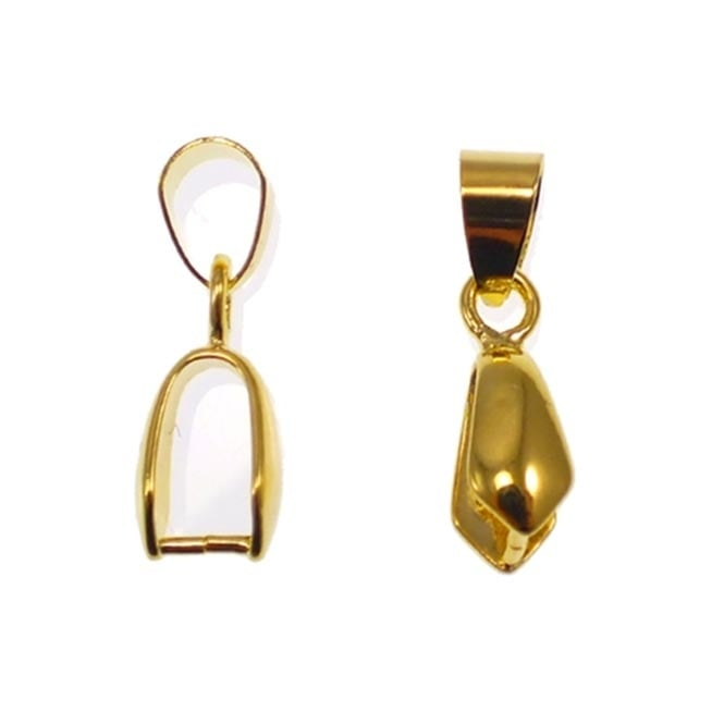 Pinch Bail Pendant & Loop 15x6mm - Gold Plated - 10pk