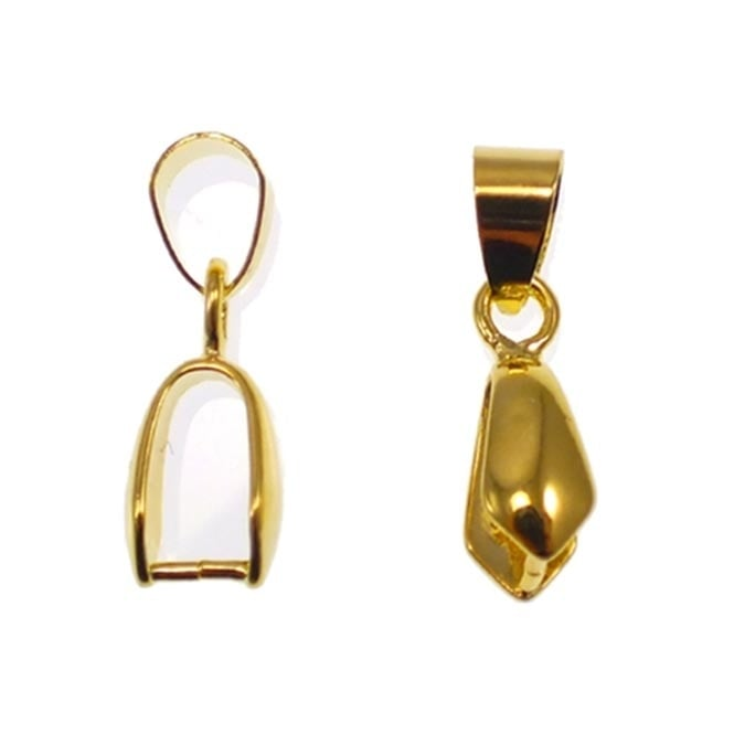 Pinch Bail Pendant & Loop 20x7mm - Gold Plated - 10pk