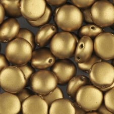 Preciosa Candy Beads 8mm - Matte Metallic Aztec Gold - 25 beads