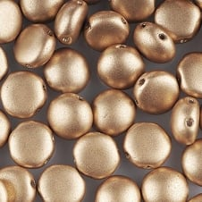 Preciosa Candy Beads 8mm - Matte Metallic Gold - 25 beads