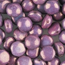Preciosa Candy Beads 8mm - Vega on Purple - 25 beads