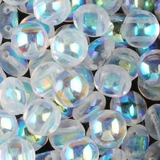 Preciosa Candy Beads 8mm - Crystal AB - 25 beads