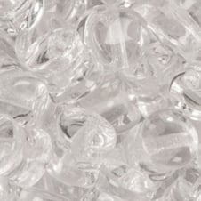 Preciosa Glass Pellet Beads 4x6mm - Crystal - 30pk