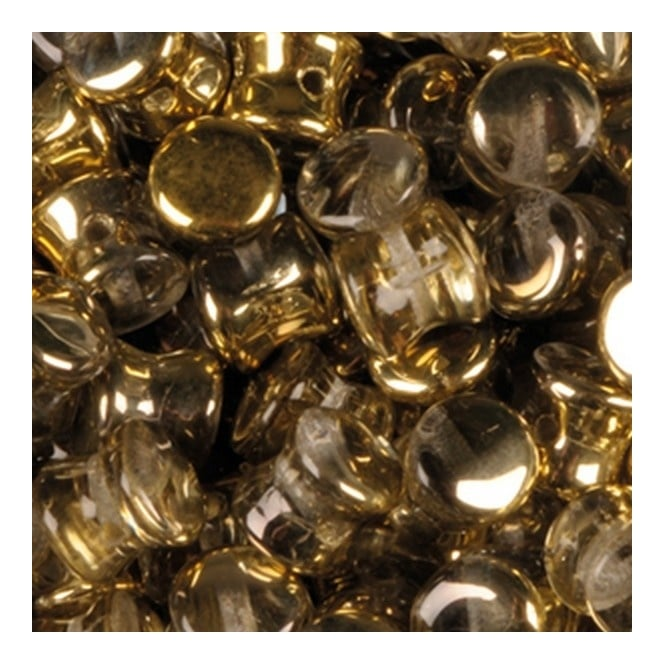 Glass Pellet Beads 4x6mm - Crystal Amber - 30pk