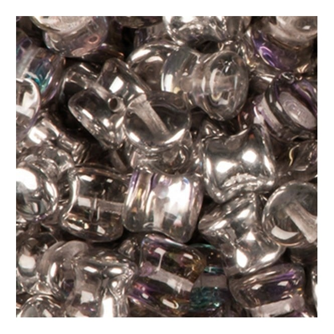 Preciosa Glass Pellet Beads 4x6mm - Crystal Vitrail Light - 30pk