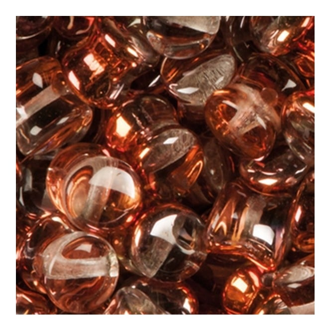 Glass Pellet Beads 4x6mm - Crystal Vitrail Sunset - 30pk
