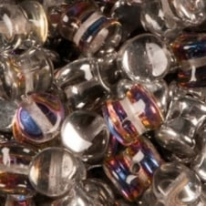 Preciosa Glass Pellet Beads 4x6mm - Crystal Volcano - 30pk