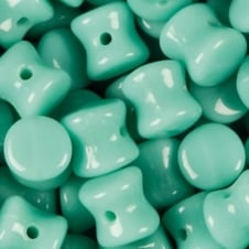 Preciosa Glass Pellet Beads 4x6mm - Opaque Green Turquoise - 30pk