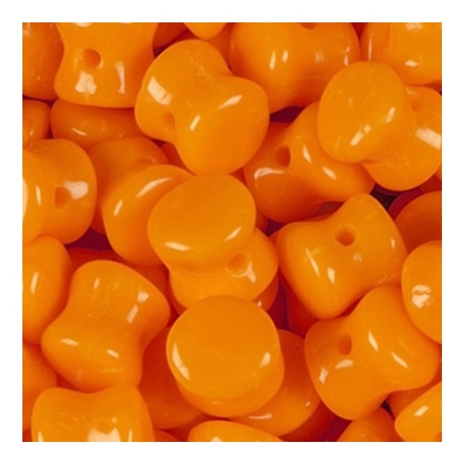 Preciosa Glass Pellet Beads 4x6mm - Opaque Orange - 30pk
