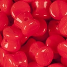Preciosa Glass Pellet Beads 4x6mm - Opaque Red - 30pk