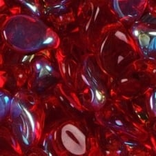 Preciosa Glass Pip Beads 5x7mm - Transparent Red AB - 20pk