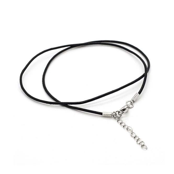 "Ready Made Necklace 1.5mm Leather Cord 18"" Adjustable With Lobster Clasp"