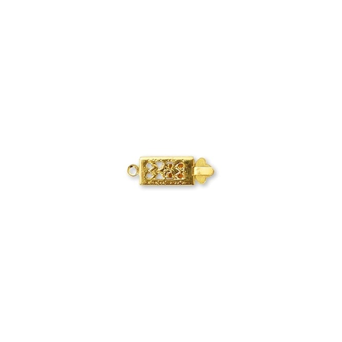 Rectangle Box Clasp - Gold Plated - 5pk