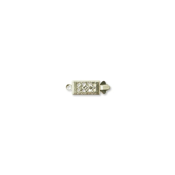 Rectangle Box Clasp - Silver Plated - 5pk
