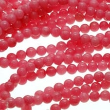 "Rhodonite Jade Round Beads 6mm - 15.5"" Strand"