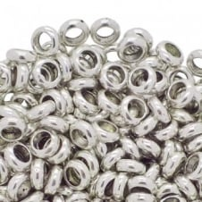 Rondelle Spacer Beads 6x3mm - Antique Silver Plated - 40pk