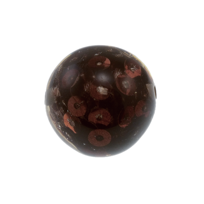 Round Resin Beads 27mm - Brown Sequins - 5pk
