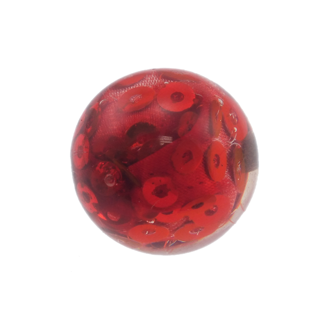 Round Resin Beads 27mm - Red Sequins - 5pk